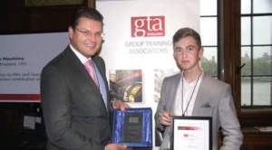 GTA England Apprentice of the Year 2014 Bobby Duff